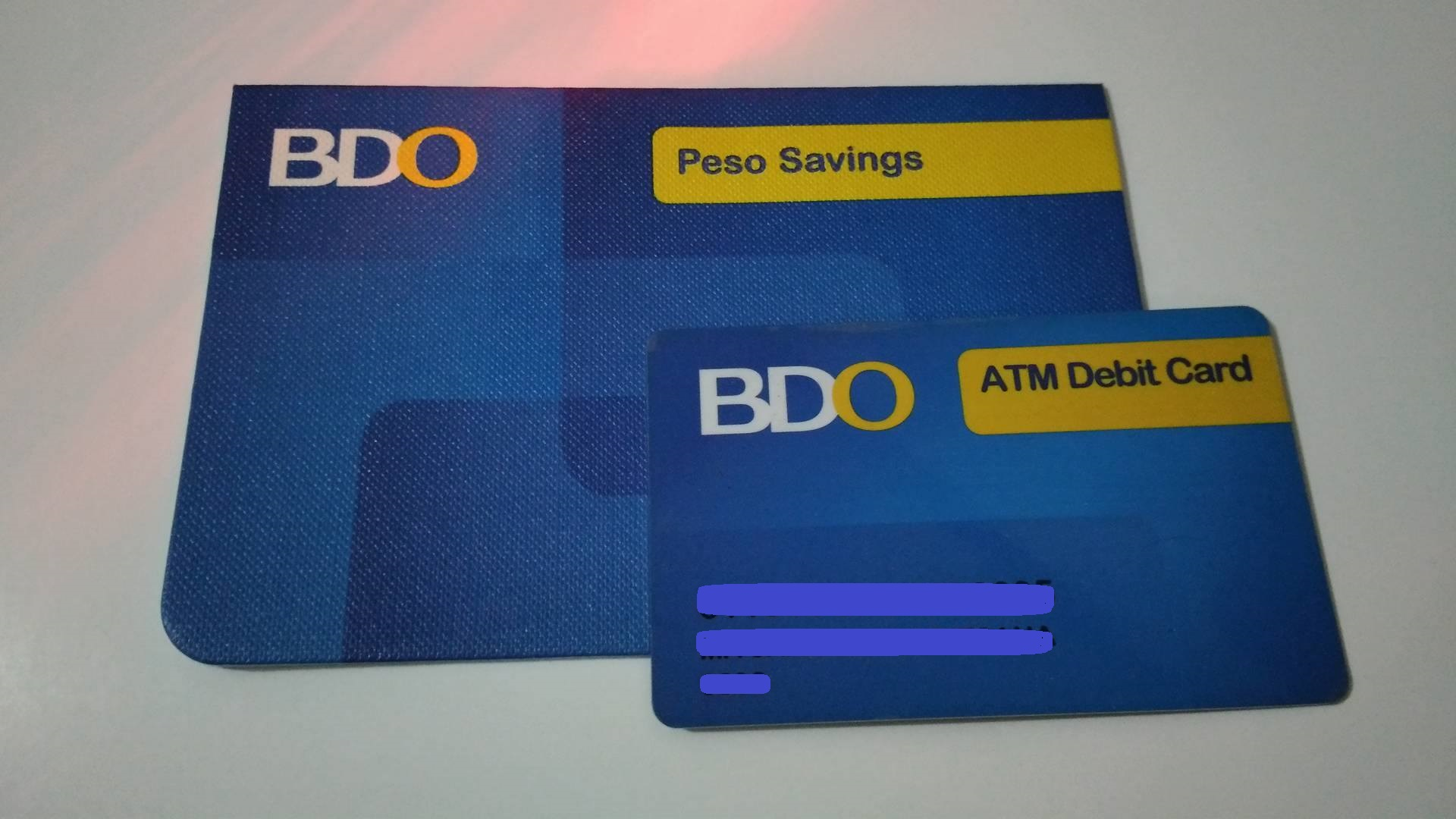 how to use bdo cash card