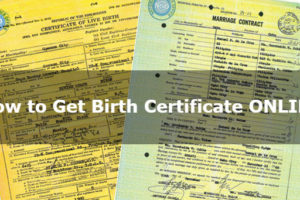 How to Get Birth, Marriage, Death Certificate and CENOMAR