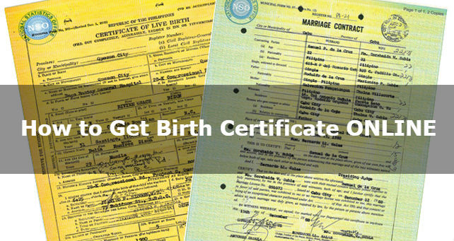 How to Get Birth, Marriage, Death Certificate and CENOMAR Online ...