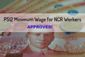 P21 Salary Increase for Minimum Wage Workers in NCR Approved