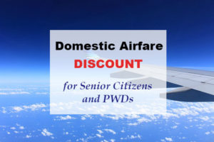 PAL and CebuPac give Senior Citizens and PWDs Discount for Domestic Flights