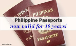 Philippine Passport is now Valid for 10 years!