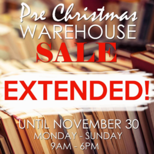 BooksForLess Warehouse Sale is Extended until November 30!