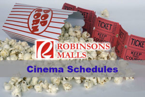 Robinsons Cinema Schedule in Robinsons Malls in the Philippines