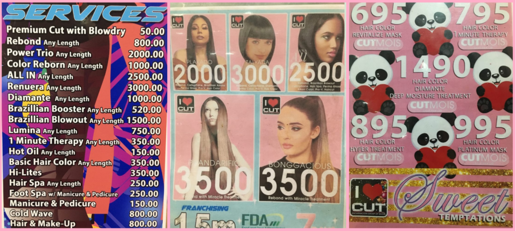 cut encarnacion salon price list 2020